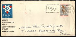 FRANCE GRENOBLE 1968 - OLYMPIC WINTER GAMES - MAILED OFFICIAL ENVELOPE OLYMPIC COMMITTEE GRENOBLE '68 - Inverno1968: Grenoble