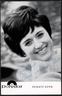 C3638 - Orig. Renate Kern -  Autogramm Autogrammkarte Autograph - Polydor - Autographes