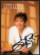 C3641 - Orig. Gitti Goetz -  Autogramm Autogrammkarte Autograph - Autogramme & Autographen