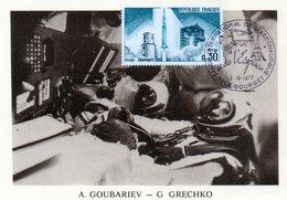 Carte 1er Jour  Soyouz 17   (14-1--1975)-  Alexei A. Goubariev Georgy M. Crechko. - Espace