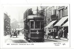 21675 - London Burnley Tramcar N° 4 C1905 Pamlin Prints Croydon - London