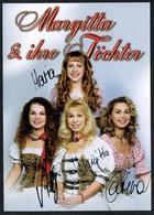 C3643 - TOP Orig. Margitta & Ihre Töchter -  Autogramm Autogrammkarte Autograph - Autographs