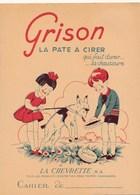 Protège-cahier La Pâte à Cirer ( Cirage ) GRISON  Pour Les Chaussures  Produit D' Entretien La Chevrette ( Chèvre ) - Protège-cahiers