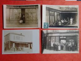 4 CARTES PHOTOS DE CAFES RESTAURANTS A IDENTIFIER - Photos