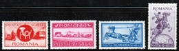 ROUMANIE - N° 761/4 ** (1944) PTT - 1918-1948 Ferdinand I., Charles II & Michel