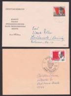 Ernst Thälmann SoSt. Ziegenrück Gedenkstätte Mit Parteitagsmarke Zitat Von Erich Honecker, Rote Fahne - [6] Oost-Duitsland