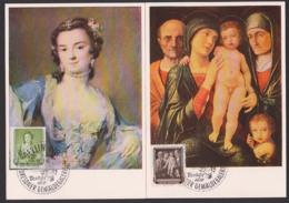 MC DDR 1957, Tizian Der Zinsgroschen, Hans Holbein Bildnis Des Morette, Andrea Mantegna, Gemädegalerie Dresden - [6] Oost-Duitsland
