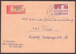 Leipzig Rathaus Germany 70 Pf. R-Brief Aus Hohenbucko üb. Falkenberg (Elster) Nach Forst, DDR 1881 - DDR