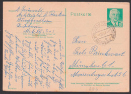 DDR Rastow Kr. Schwerin Mecklenburg 1.10.57 Auf Ganzsache 10 Pf. Wilhem Pieck P68b - [6] Oost-Duitsland