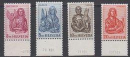 Switzerland 1961 Evangelisten 4v (printing Date In Margin) ** Mnh (42215) - Zwitserland