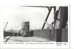 21676 - London Trams In Deptford The Temorary Deptford Creek Bridge Pamlin Prints Croydon - London