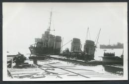 PHOTO -- SAUVETAGE -- DESTROYER FRANCAIS -- DATE, ENDROIT & BATEAU INCONNU - Guerre