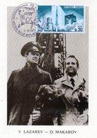 Carte 1er Jour  Soyouz 18   (5-4--1975)-  Vassili Lazarev Oleg Makarov . - Espace