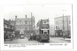 21677 - London Last Day Of Trams In Battersea 30.09.1950 At The Princes Head Pamlin Prints Croydon - London