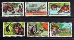 GABON GABONAISE GABOON GABUN 1967 AFRICAN FAUNA ANIMALS ANIMAUX ANIMALI AFRICANI COMPLETE SET SERIE COMPLETA MNH - Gabon (1960-...)