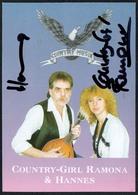 C3650 - TOP Orig. Country Girl Ramona & Hannes -  Autogramm Autogrammkarte Autograph - Country - Autographes