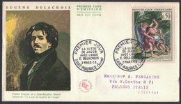 YN339     FRANCE FDC 1963 *  EUGENE DELACROIX - 1960-1969