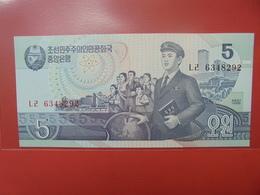 COREE(NORD) 5 WON 1998 PEU CIRCULER/NEUF - Corée Du Nord