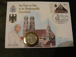 Enveloppe Philatélique Et Numismatique - Visite Du Pape Jean-Paul II En Allemagne 1987 - Papes