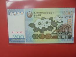 COREE(NORD) 200 WON 2005 PEU CIRCULER/NEUF - Corea Del Norte