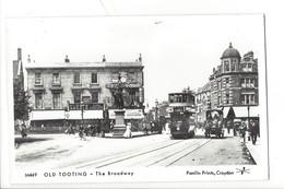 21679 - London Tram Old Tooting The Broadway Pamlin Prints Croydon - London