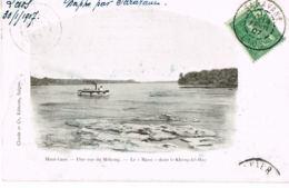 """Haut-Laos- Une Vue Du Mékong-Le """"Massi"""" Dans Le Keng-Ké-Bao- écrite 1907 Par Chef Du Bureau Militaire Garde Indigène - Laos"""