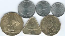 Cook Islands - 2015 - Elizabeth II - 10, 20 & 50 Cents; 1, 2 & 5 Dollars - Cook