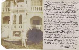 Laos- Carte Photo-Un Vieux Colonial - écrite 1906 Par Chef Du Bureau Militaire Garde Indigène-Recto Verso Voir état - Laos