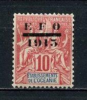 OCEANIE 1915 N° 38 * Neuf  MH Légère Trace De Charnière  TTB C 7,50 € - Oceanië (1892-1958)