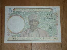 5 Francs AOF 1-10-1942 Bon état - Banknotes