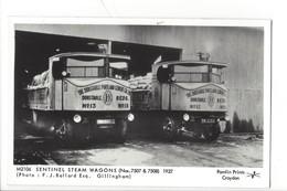 21680 - London Sentinel Steam Wagons 1927 Pamlin Prints Croydon Platform One Fulham Road London - London