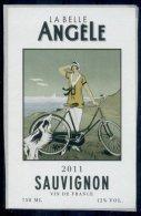 THEME LOCOMOTION étiquette De Vin SAUVIGNON / VÉLO CHIEN - Ciclismo