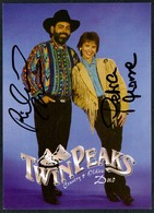 C3656 - TOP Orig. Twin Peaks Duo -  Autogramm Autogrammkarte Autograph - Country - Autographes