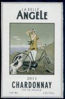 THEME LOCOMOTION étiquette De Vin CHARDONNAY / VÉLO CHIEN - Ciclismo