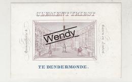 Dendermonde (originele Litho Porseleinkaart Garen En Linten Clement Triest - Ft 8x12) - Dendermonde
