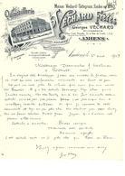 Facture Quincaillerie Georges Véchard à Amiens En 1919 - France