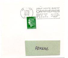 DROME - Dépt N° 26 = ALLEX 1973 =  FLAMME à DROITE =  SECAP ' CARRIERES PTT / Pour Votre Avenir ' - Marcophilie (Lettres)