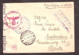 Enveloppe 1943 - Camp De Concentration De Solofra - Solofra Pour Amsterdam - Vérifié Par La Censure - Peu Courant - WW2