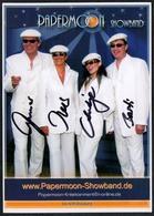 C3662 - TOP Orig. Papermoon Showband -  Autogramm Autogrammkarte Autograph - Autographes