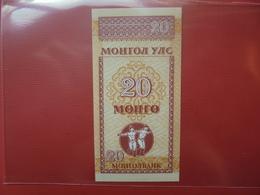 MONGOLIE 20 MONGO 1993 PEU CIRCULER/NEUF - Mongolie