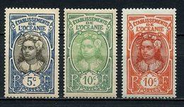 OCEANIE 1922 N° 47/49 * Neufs MH Légère Trace De Charnière TTB C 3 €  Tahitienne Couronne Fleurs Flowers - Oceania (1892-1958)