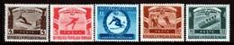 ROUMANIE - N°1135/9 **  (1951) Jeux Universitaires Mondiaux D'hiver - 1948-.... Repubbliche