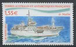 TAAF 2014 - N° 691 - Bateau Navire Patrouilleur - Le Malin - Neuf -** - Nuevos