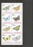 Papillons ( Feuillet De 8 Timbres XXX -MNH- De Guinée équatoriale) - Schmetterlinge