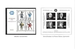 Schweiz Suisse 1974: PTT-Faltblatt Mit INTERNABA-Block O CENTENARIUM UPU & Schwarzdruck Des Nicht Ausgeführten Entwurfs - U.P.U.