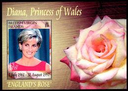 British Virgin Islands 2008 Princess Diana Souvenir Sheet Unmounted Mint. - British Virgin Islands
