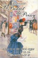 """CARTE DE VISITE, """"LE BISTROT DE POISSY"""", RESTAURANT, POISSY (YVELINES), Chevaux,  Attelage - Visiting Cards"""