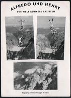 C3668 - Alfredo Und Henry -  Autogrammkarte - Zugspitze Artisten Traber - Autographes