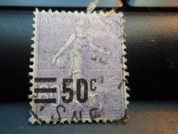Timbre Semeuse Surchargée 50 C Sur 60c - 1906-38 Semeuse Camée