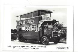21682 - London BusTransport Route 32 A London Transport Photograph Pamlin Prints Croydon Platform One Fulham Road London - Otros